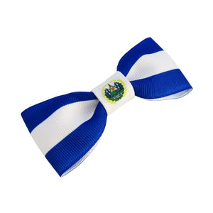 El Salvador flag hair bow