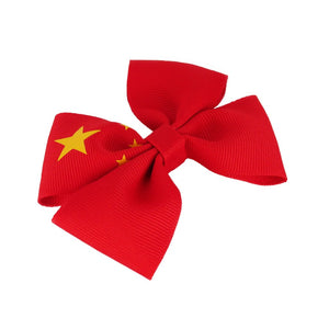 China flag hair bow
