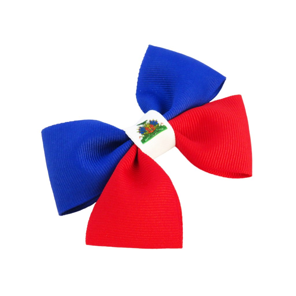 Haiti flag hair bow
