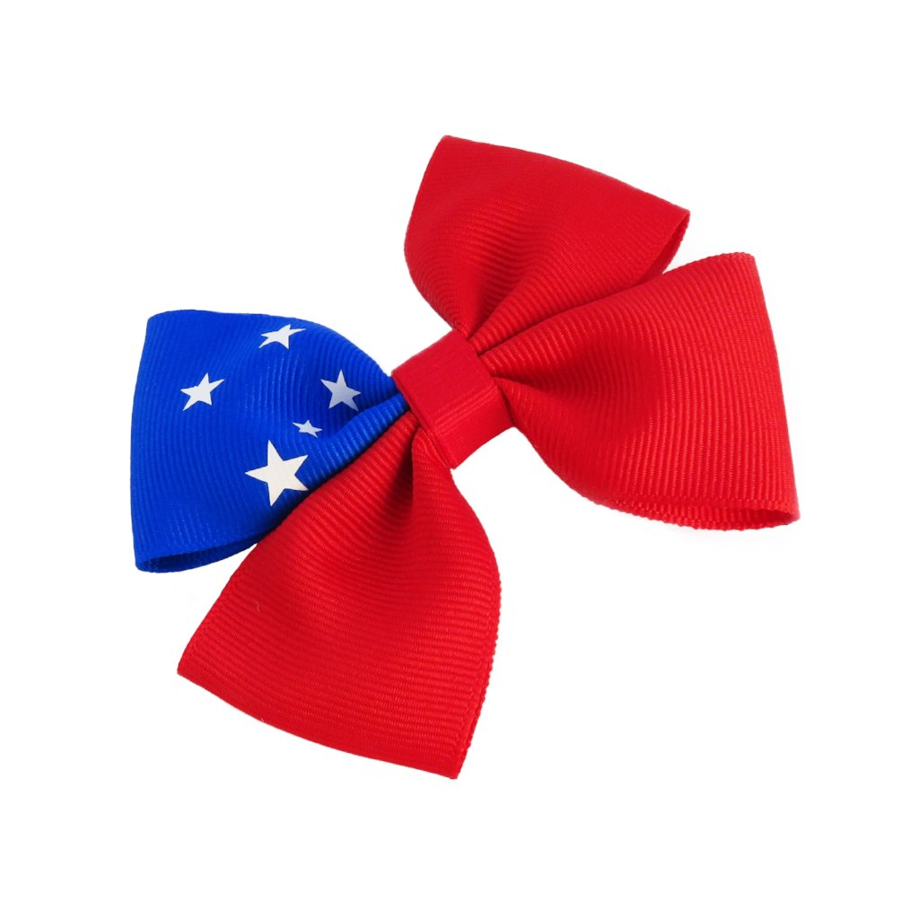 Samoa Flag Hair Bow