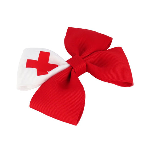 Tonga Flag Hair Bow