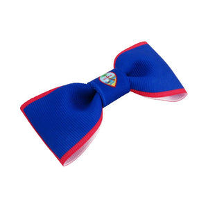 Guam flag hair bow
