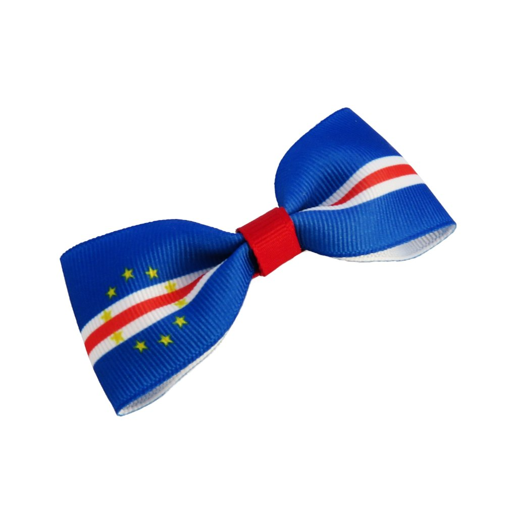 Cape Verde flag hair bow