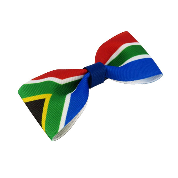 South Africa Flag Hair Bow