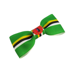 Dominica flag hair bow