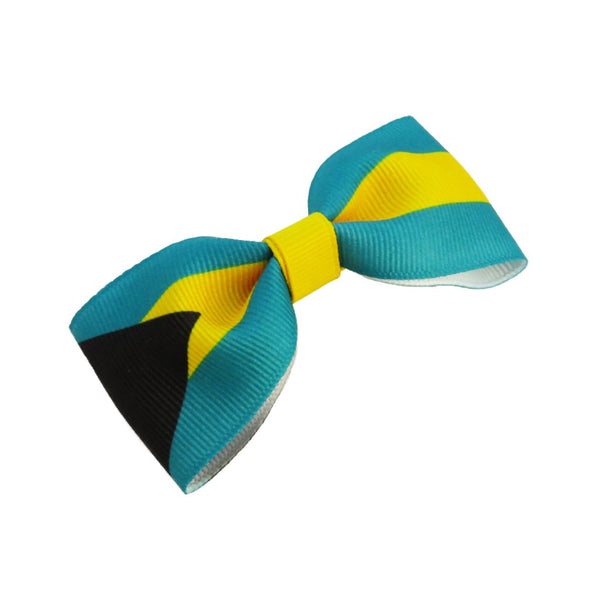 Bahamas flag hair bow