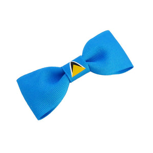 St Lucia Flag Hair Bow
