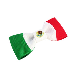 Mexico flag hair bow
