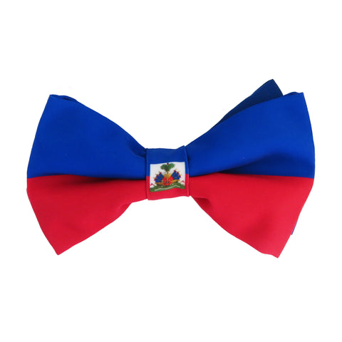 Haiti Flag Bow Tie for men, boys and babies