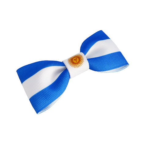 Argentina Flag Hair Bow
