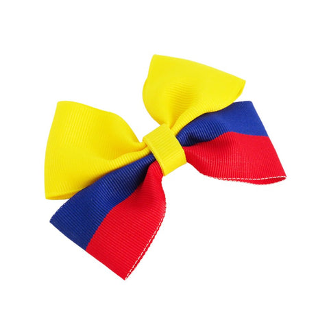Colombia flag hair bow