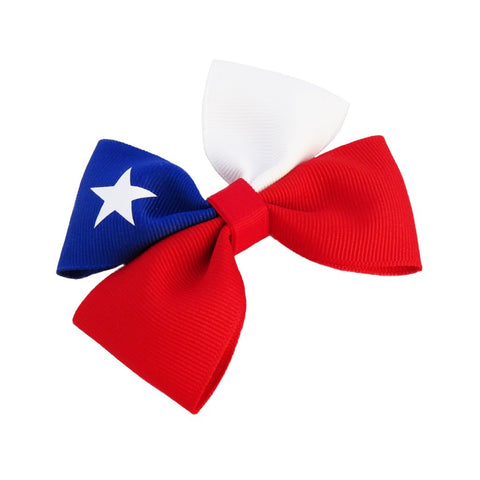 Chile flag hair bow