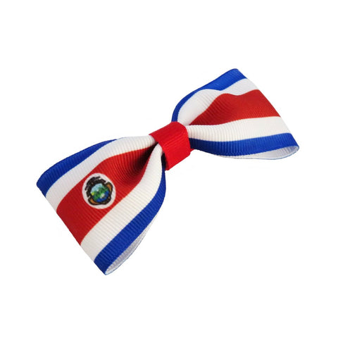 Costa Rica flag hair bow