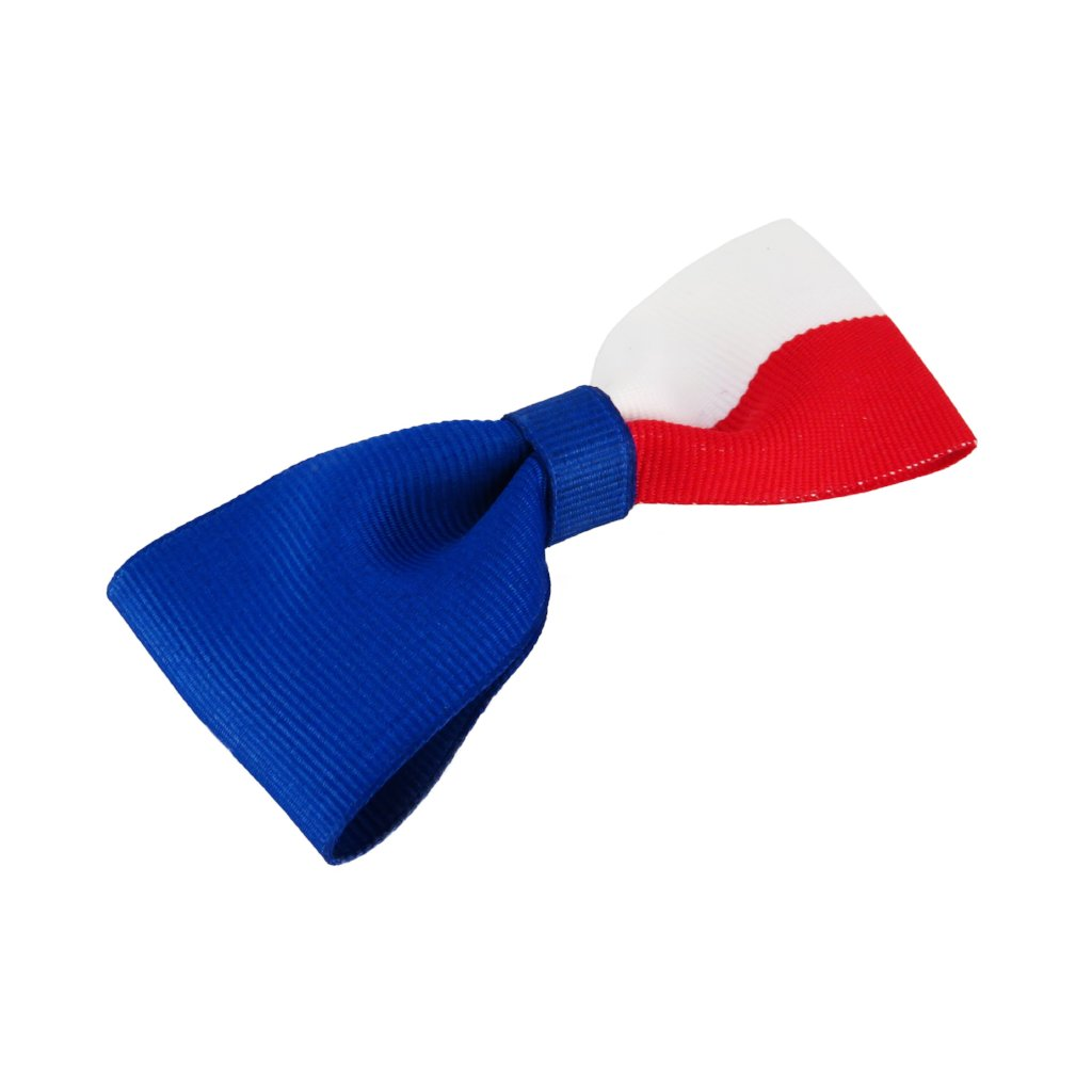 Czech flag hair bow