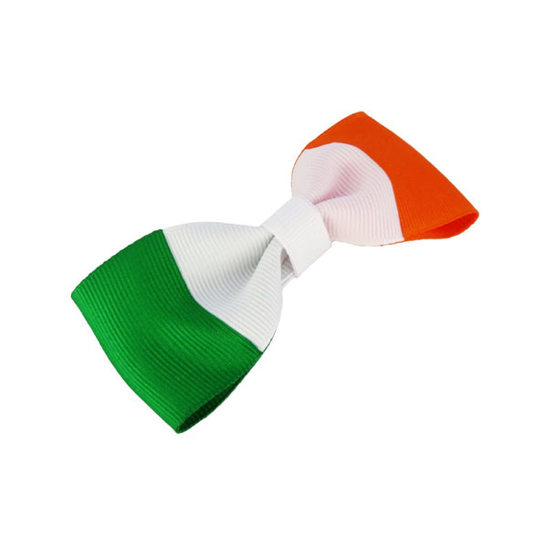 Ireland flag hair bow