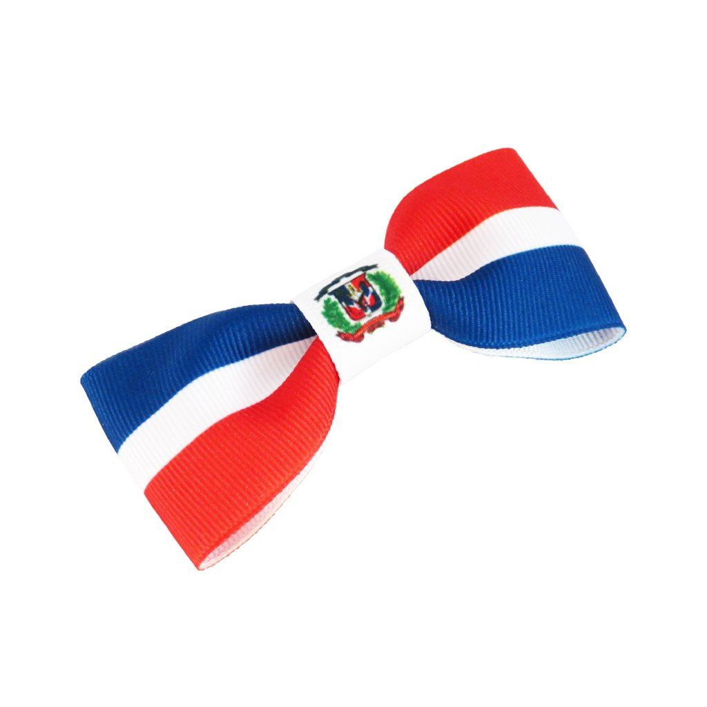 Dominican Republic flag hair bow