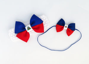 Haiti flag headbands