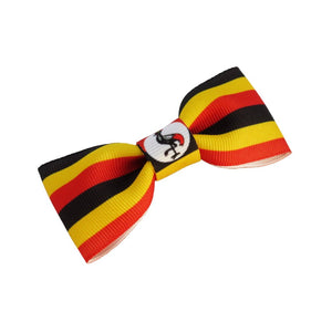 Uganda Flag Hair Bow