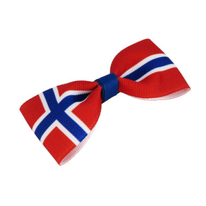 Norway flag hair bow