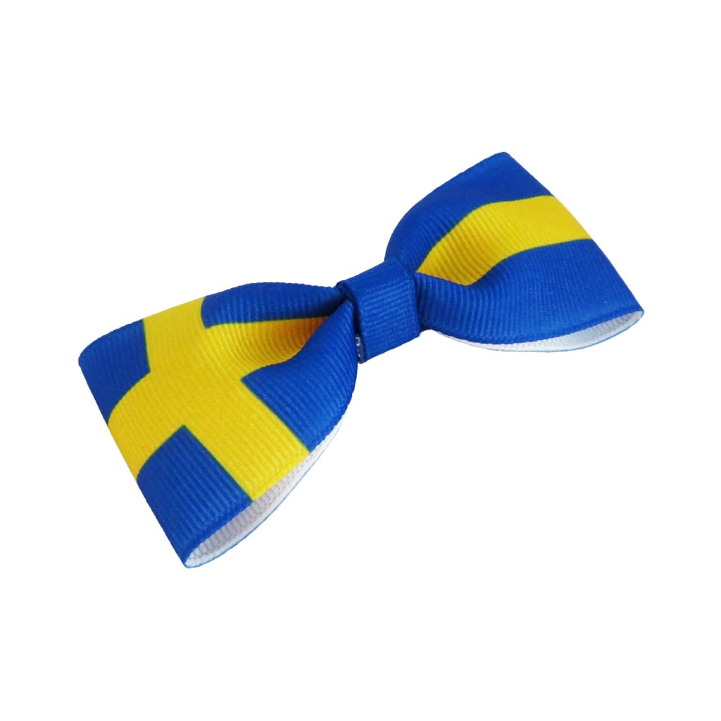 Sweden Flag Hair Bow