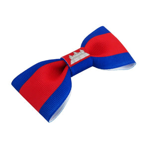 Cambodia Flag Hair Bow