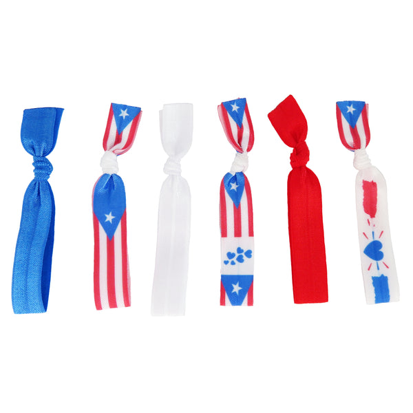 Puerto Rico Hair Ties for women and girls