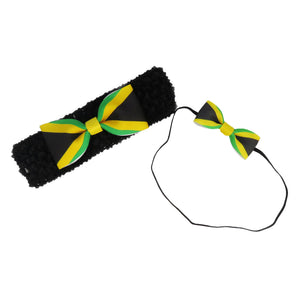 Jamaica Flag Hair Bow