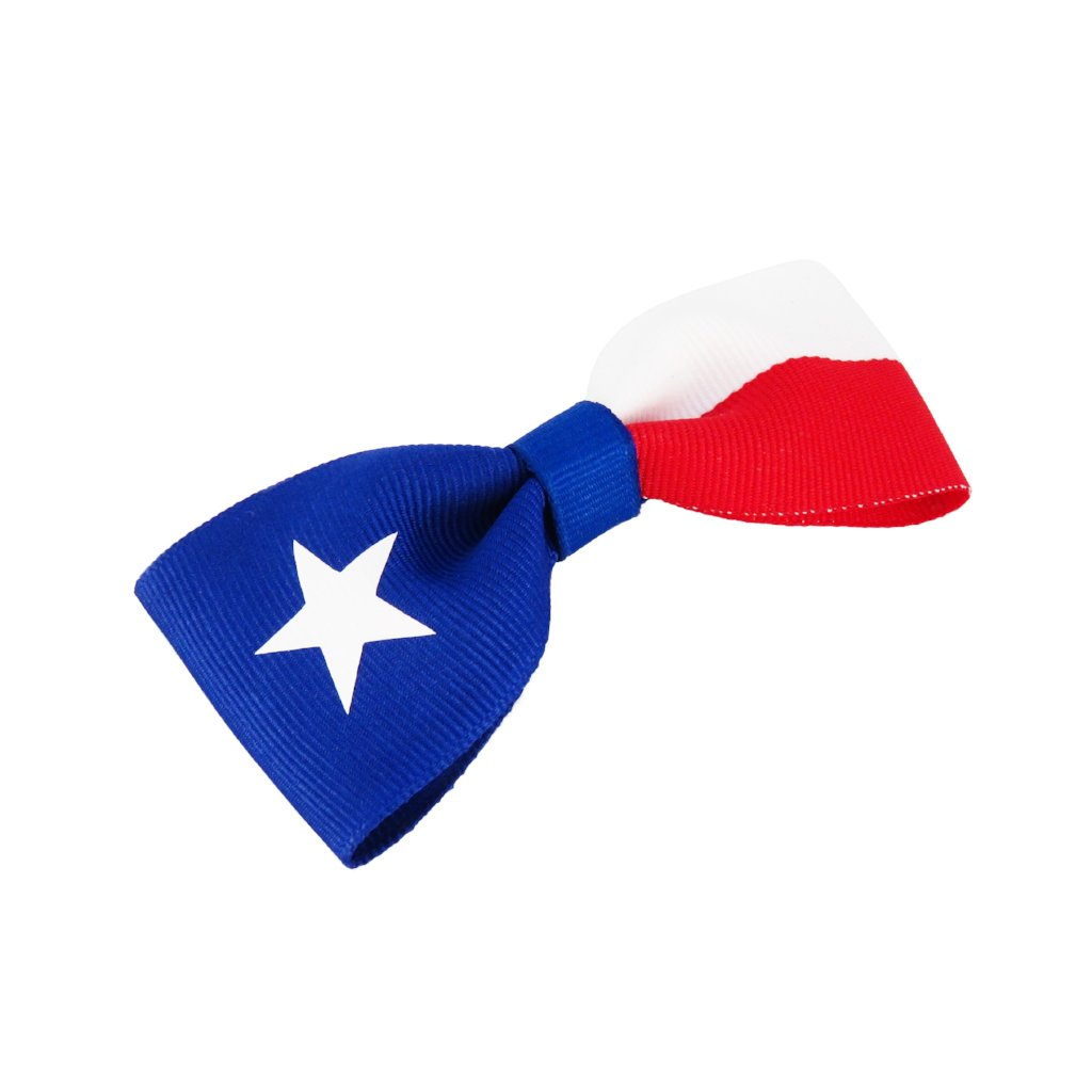 Texas Flag Hair Bow