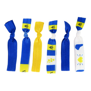 Barbados Flag Hair Ties