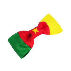 Cameroon flag hair bow