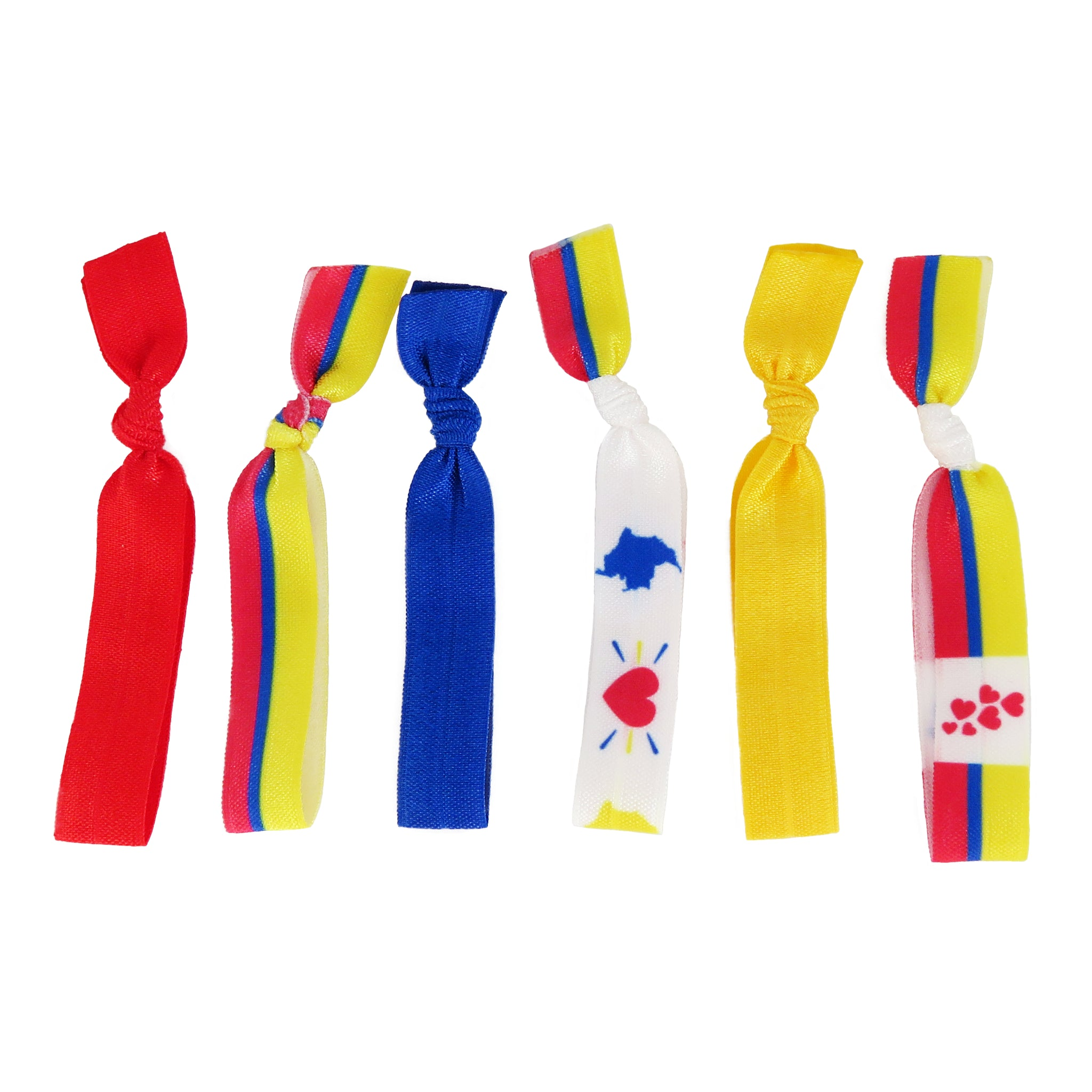 Colombia flag hair ties