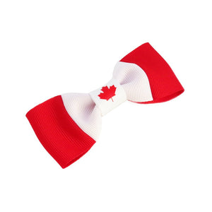 Canada flag hair bow