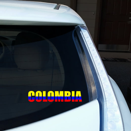 Colombia Name Car Decal