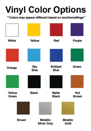Vinyl Color Option Chart