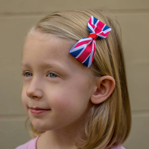 United Kingdom Flag Hair Bow