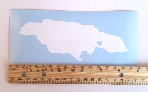 Jamaica vinyl decal with ruler
