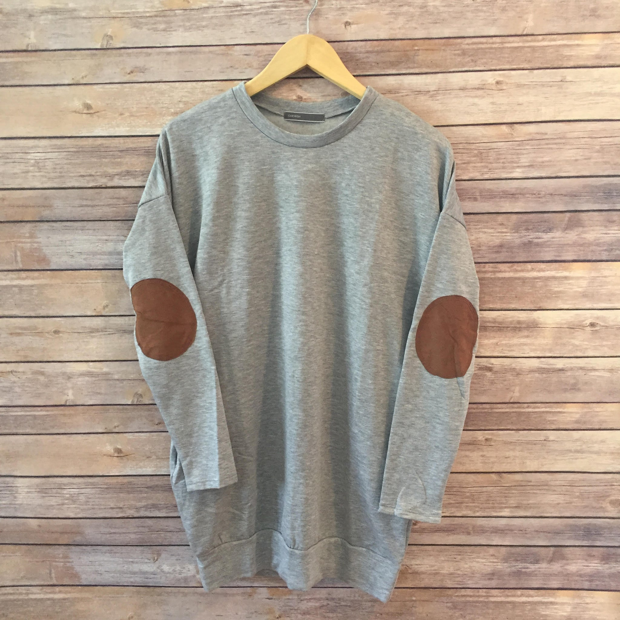 Brandy elbow patch sweatshirt GREY - Bea+Sea
