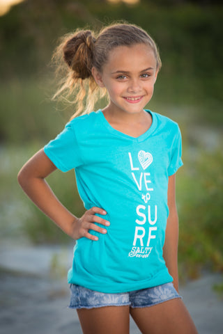 Love 2 Surf - Youth Sporty V-Neck