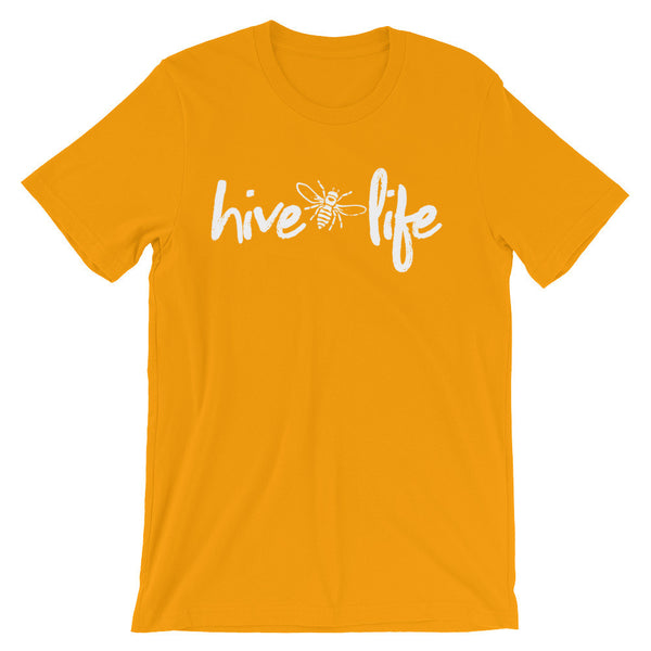 """Hive Life"" Beekeeper T-Shirt (Gold)"