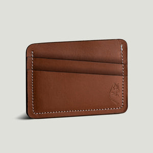 Wolf Card Holder - Brown - Wolf Leather Goods