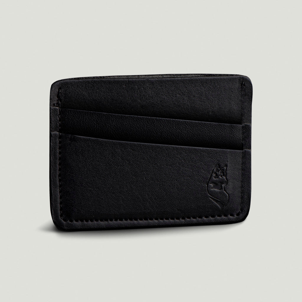 Wolf Card Holder - Black - Wolf Leather Goods