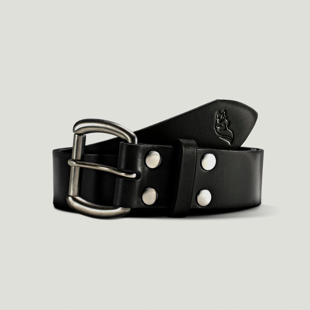 Wolf Leather Belt - Black - Wolf Leather Goods
