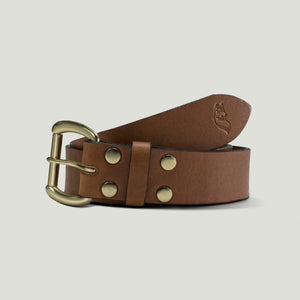 Wolf Leather Belt - Brown - Wolf Leather Goods