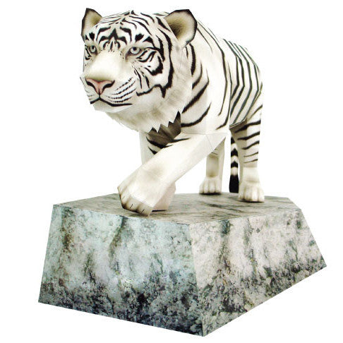 White Tiger 3D Paper Toy - (Tigre Blanco)