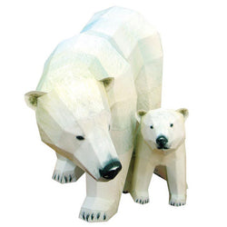 Polar Bear 3D Paper Toy - (Oso Polar)