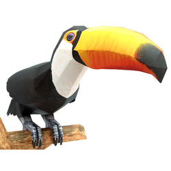 Toco Toucan 3D Paper Toy - (Tucán)