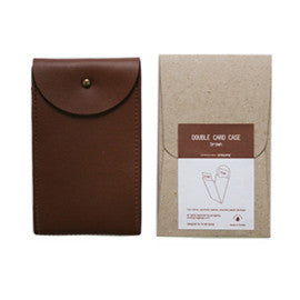 Ecology Double Card Case - Brown