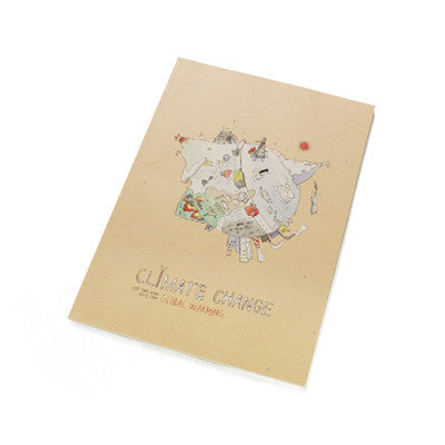 Ecology Climate Change Line Notebook - Peach