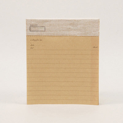 Check List Note Pad - Kraft