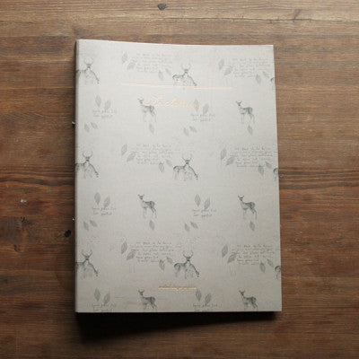 Ring Binder Folder - Deer - Grey